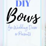 DIY bows for presents, home decor or wedding decorations. #wedding #burlap #DIY